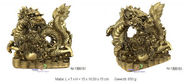 Drache Figur Fengshui Glücksbringer mächtiges Symbol