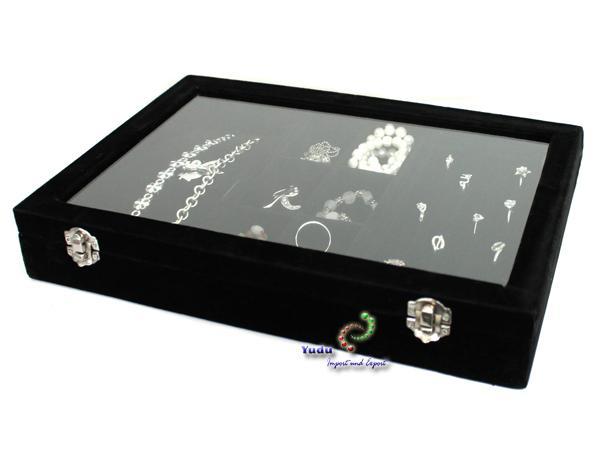 Brillenkoffer Uhrenkoffer Schmuckkoffer  mit Glasdeckel  W75B
